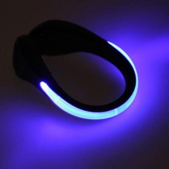 Moonar LED Luminous Plastic Night Safety Warning Shoe Clip Light for running cycling shopping climbing (Blue) - intl