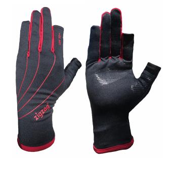 zigzag GLV00801- Găng tay Easy touch chống nắng UPF50+ (đen đỏ)