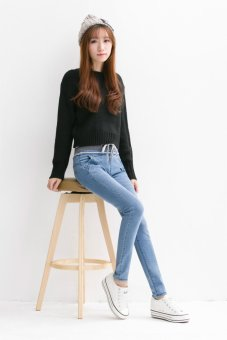 Korean Style Skinny High Waist Denim Jeans - (Intl) - intl