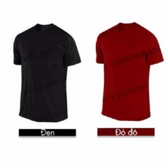 Bộ 2 áo thun LAKA A1011 (Đen + Đỏ Đô)