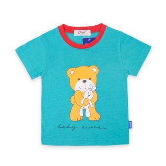 Áo thun bé trai ( bé từ 1 - 3,5 tuổi ) Oiwai 68-7028-011 BLE (xanh)