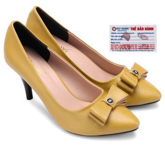 HL7025 - Giày nữ gót cao 7cm Huy Hoàng màu vàng
