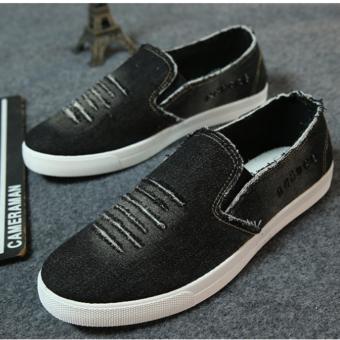 Giày luời vải bò nam - GB03 ( Đen )