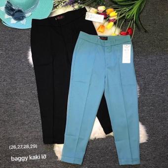 Combo 2 quần baggy kate lửng (đen -biển nhạt)