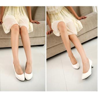Giày búp bê nữ có gót đáng yêu - 169 (Trắng)