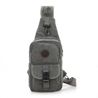 Túi đeo chéo, balo nam chuyên phượt DC02 (Xám)