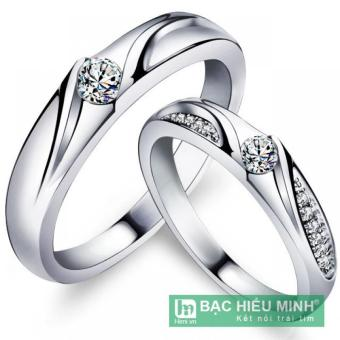Nhẫn đôi Bạc Hiểu Minh nc356 vợ và chồng