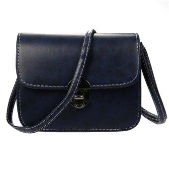 Linemart New Fashion Women Vintage Style Fashion Shoulder Bag Retro Adjustable Strap Cross Bag ( Navy Blue ) - intl