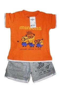 Bộ quần áo bé trai Minion Cam One Week (Cam)
