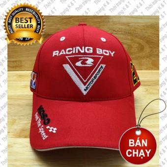 Nón Thể thao Racing Boy 27 Cao Cấp design Thời Trang K& T ( Đỏ )