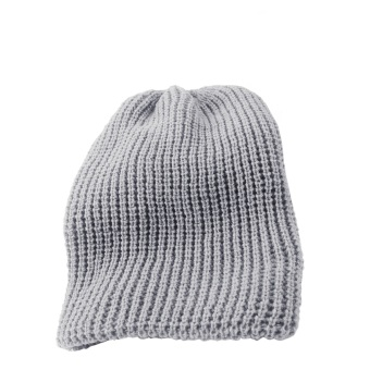 Mens Caddice Winter Warm Hat Long Knit Ski Cap Gray