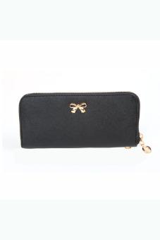 Bowknot Purse Wallet Handbag (Black) - intl