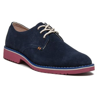 Bellfield Men's Suede Derby Shoe Navy