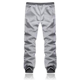 Fashion Men Casual Plain Trousers Joggers Gym Tracksuit Bottoms Pants (Intl)