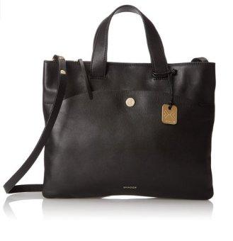 Túi xách da Đen nữ cao cấp Skagen Small Klire Horizon OT Tote Bag
