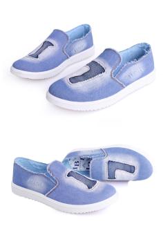 Giày Lười May Số ZOMA S1005 (Xanh)