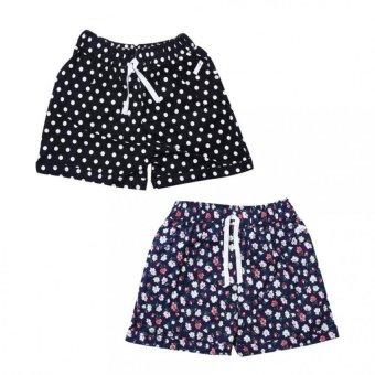 Bộ 2 Quần Shorts Đùi Chun Nữ Hoa Nhí SoYoung 2WM SHORTS 013 E F