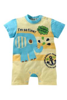 Bộ áo liền quần liền hình thú ngộ nghĩnh Family Shop TEH12 (Vàng xanh)