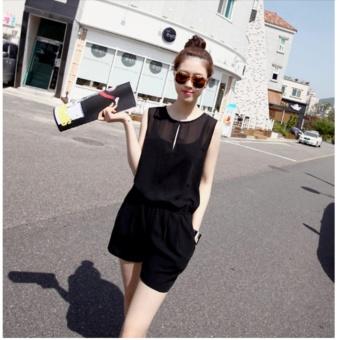 Jumpsuit giọt nước ngắn Misa Fashion MS190 / Đen