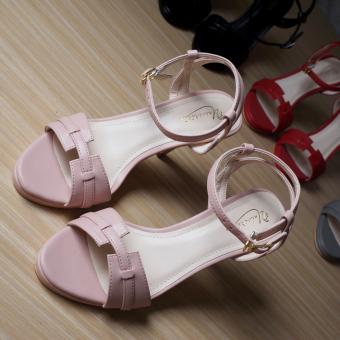 Giày Sandal Cao Gót Uni 0713 (Hồng)