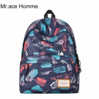 Balo Thời Trang Mr.ace Homme MR16B0256B01 / Xanh đen phối họa tiết