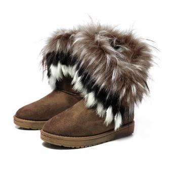 Sunweb Women's Autumn Winter Snow Boots Ankle Boots Warm Fur ShoesCamel - Intl - intl