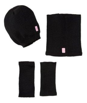 Bộ mũ quàng tay quàng cổ len đencho bé gái U.S. Polo Association Little Girls Slouch Beanie Wristlet Neck Warmer (Mỹ)