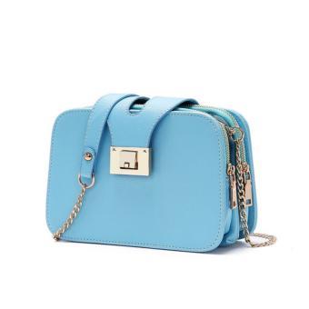 Túi đeo chéo 3 ngăn thời trang FZ668 ( xanh )