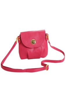 HKS Women Handbag Messenger Bag Small Mini Casual Travel Satchel Purses (Rose) - intl