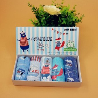 Set 5 quần lót Hàn Quốc cho bé trai Mr Kids Marine
