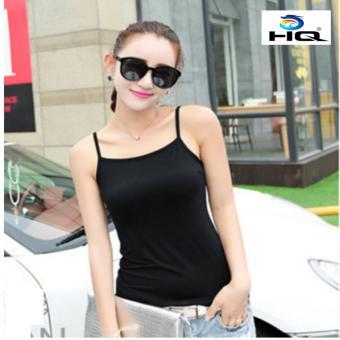 Áo hai dây cotton phong cách Hàn Quốc HQ 3TI55 1(đen)