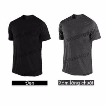 Bộ 2 áo thun LAKA A1015 (Đen + Xám)