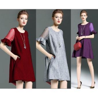 Đầm Suông Tay Loe Tat0253d