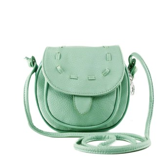 New Fashion Women Mini Shoulder Bag PU Leather Messenger Crossbody Bag Drawstring Handbag Green (Intl)