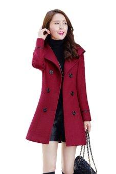 Áo khoác dạ Zahra (Đỏ)