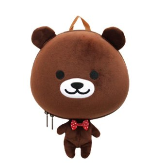 Supercute 3D Cartoon Animal Children Schoolbag (Bear) - intl