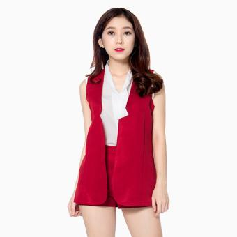 Bộ áo khoác vest quần short S00315160 (Đỏ)