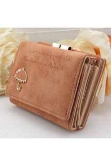 Moonar Cute Umbrella Pattern PU Leather Wallet Purse (Coffee)
