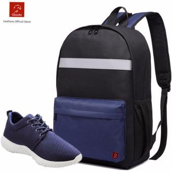 Combo Balo Cylinder Laptop BLL003BU + Giày Sneaker GS062BU (Xanh) - CB026