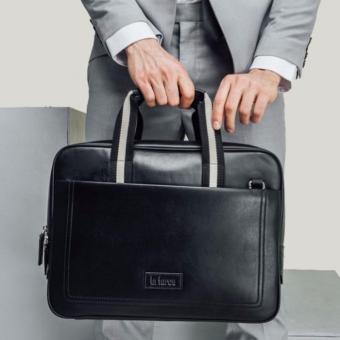 Túi đựng laptop nam Laforce da bò TLA7142-D