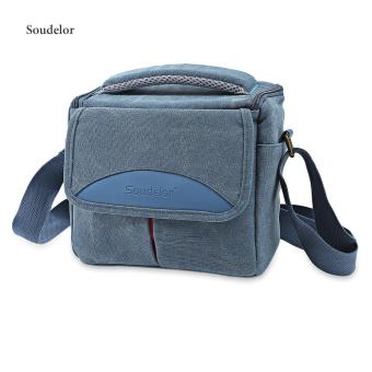 Soudelor Retro Style Canvas Camera Shoulder Case - intl