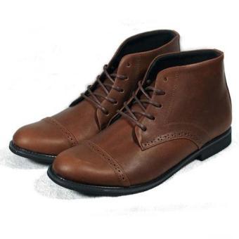 Boots cổ lửng đục lỗ Tathanium Footwear TFBRO8800 (Nâu)