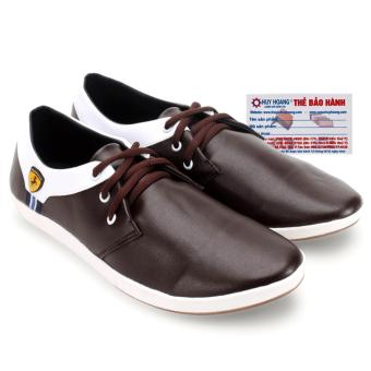 Giày nam thể thao Huy Hoàng (Nâu phối trắng)