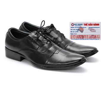 HL7103 - Giày tây nam Huy Hoàng da bò màu đen