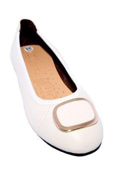 Giày Búp Bê Nữ Da Bò Minh Tâm MT708GN (Trắng)