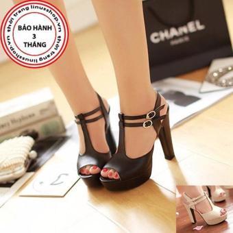 Giày cao gót 2 quai cài - LN907