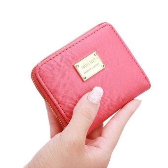 Women Leather Small Wallet Card Holder Zip Coin Purse Clutch Handbag - intl