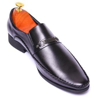 Giày tây nam da thật Giày Da Miền Trung VCT2LZD37D-2 (Đen)