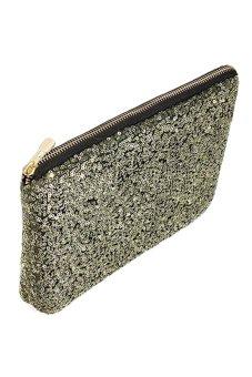 Bluelans Sequins Dazzling Clutch Evening Party Bag Handbag Purse Golden (Intl)
