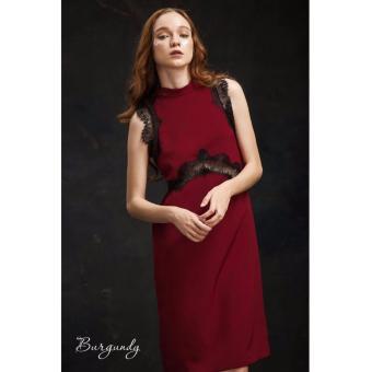 Đầm suông sanh chảnh Xavia Clothes Burgundy